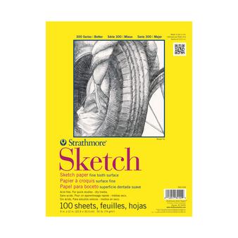 Strathmore Sketch Pad 300 50lb 9x12 100sh