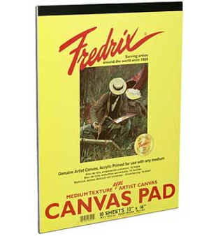 Fredrix Canvas Pad 9x12 10sh