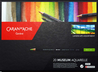 Caran d'Ache Museum Aquarelle Watercolor Pencil Set of 20 Landscape Selection
