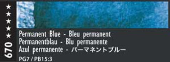 Caran d'Ache Museum Aquarelle Watercolor Pencil Permanent Blue