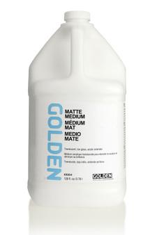 Golden Artist Colors Acrylic Medium: Gallon Matte Medium