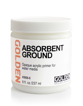 Golden Artist Colors Acrylic Ground: 8oz Absorbent Ground White