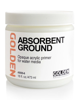 Golden Artist Colors Acrylic Ground: 16oz Absorbent Ground White