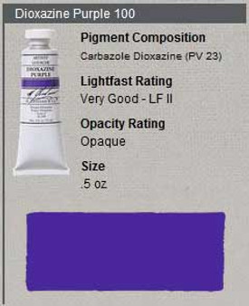 M. Graham Gouache Series 3: 15ml Dioxazine Purple