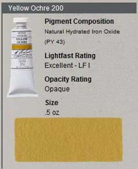 M. Graham Gouache Series 1: 15ml Yellow Ochre