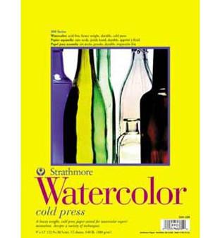 Strathmore Watercolor Pad 300 140lb 11x15
