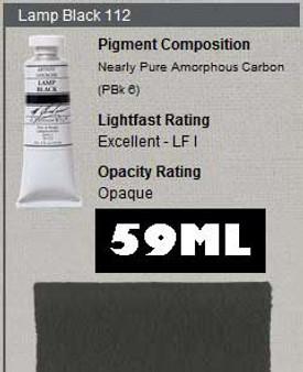 M. Graham Gouache Series 1: 59ml Lamp Black