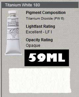 M. Graham Gouache Series 1: 59ml Titanium White Permanent
