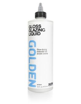 Golden Artist Colors Acrylic Medium: 16oz Glazing Liquid Gloss