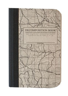 Michael Roger Press Decomposition Pocket Notebook Grid Topographical
