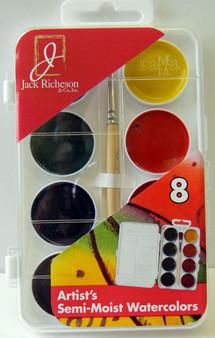 Jack Richeson semi-moist watercolor set of 8 colors