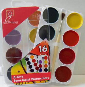 Jack Richeson semi-moist watercolor set of 16 colors
