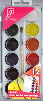 Jack Richeson semi-moist watercolor set of 12 colors