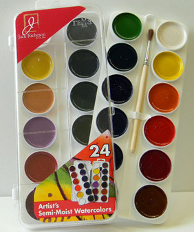 Jack Richeson semi-moist watercolor set of 24 colors
