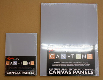 Fredrix Can-Tone Canvas Panels Gray 9x12 3 Pack