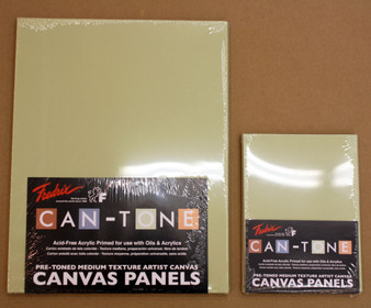 Fredrix Can-Tone Canvas Panel Heather Green 9x12 3 Pack