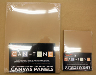 Fredrix Can-Tone Canvas Panels Cappuccino 9x12 3 Pack