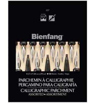 Bienfang Calligraphy Parchment 8.5x11 Asst Color 50pk