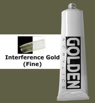 Golden Artist Colors Heavy Body Acrylic: 2oz Interference Gold Fine