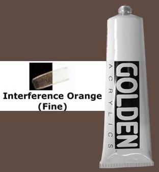 Golden Artist Colors Heavy Body Acrylic: 2oz Interference Orange Fine