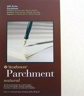 Strathmore Calligraphy Pad Parchment Natural 8.5x11 50sh