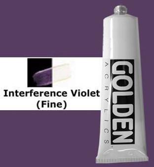 Golden Artist Colors Heavy Body Acrylic: 2oz Interference Violet Fine