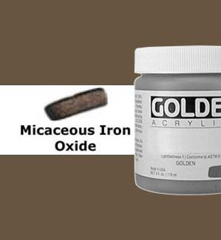 Golden Artist Colors Heavy Body Acrylic: 4oz Micaceous Iron Oxide