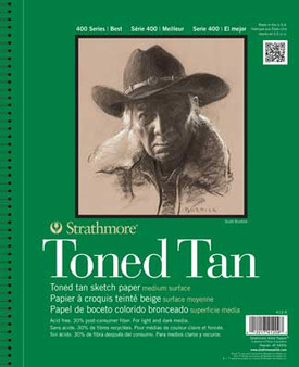 Strathmore Toned Tan Sketch Paper 18x24 Wirebound