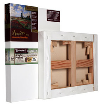 Masterpiece Monet Pro Sausalito Acrylic Primed Cotton Canvas 12oz 12x19
