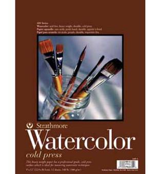 Strathmore Watercolor Pad 400 130 Lb 9x12