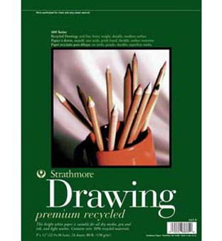 Strathmore Drawing Pad 400 Recycled 9x12