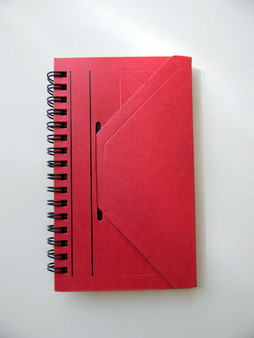 "Okina OE Note Lined Journal V3 3x6"" Red"