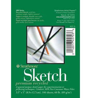 Strathmore Sketch Pad 400 Recycled 18x24