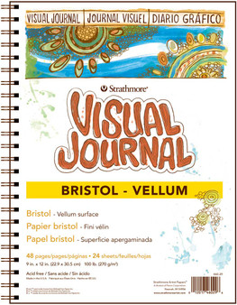 Strathmore Visual Journal Bristol Vellum 9x12