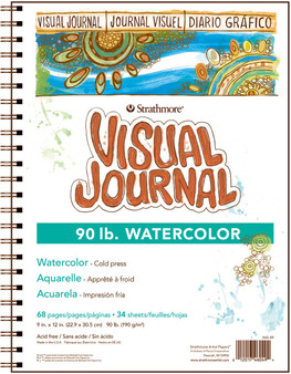 Strathmore Visual Journal Watercolor 90# 9x12
