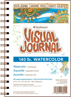 Strathmore Visual Journal Watercolor 140# 5.5x8