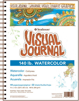 Strathmore Visual Journal Watercolor 140# 9x12
