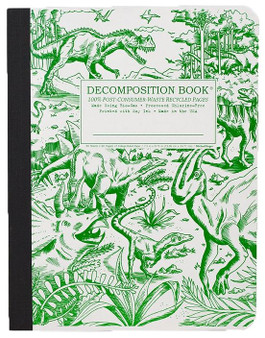 Michael Roger Press Decomposition Ruled Notebook Dinosaurs