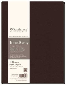 Strathmore 400 Series Toned Gray Hardbound Art Journal 8.5x11