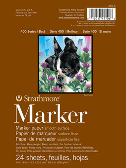 "Strathmore 400 Series Marker Pad 6x8"" 24 Sheets"