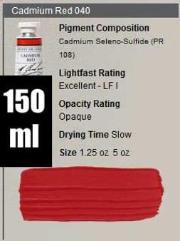 M. Graham Oil 150ml Series 6: Cadmium Red
