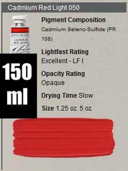 M. Graham Oil 150ml Series 6: Cadmium Red Light