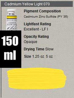 M. Graham Oil 150ml Series 6: Cadmium Yellow Light