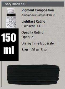 M. Graham Oil 150ml Series 1: Ivory Black