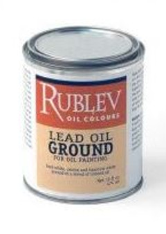 Natural Pigments Rublev Oil Colour 16oz Lead Oil Ground