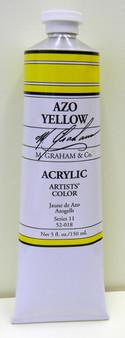 M. Graham Acrylic 5 oz Tube Azo Yellow