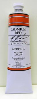 M. Graham Acrylic 5 oz Tube Cadmium Red
