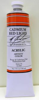 M. Graham Acrylic 5 oz Tube Cadmium Red Light