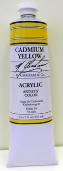 M. Graham Acrylic 5 oz Tube Cadmium Yellow