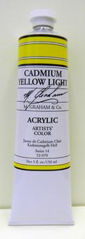 M. Graham Acrylic 5 oz Tube Cadmium Yellow Light